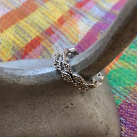 Set of 2 sparkly Vintage deco rings